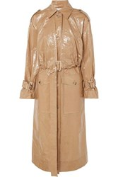 Rejina Pyo Coated Cotton Trench Coat Taupe