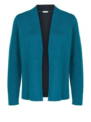 Planet Edge To Edge Knitted Cardi Blue