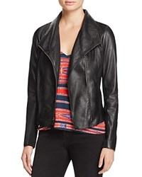 Aqua Leather Jacket Black
