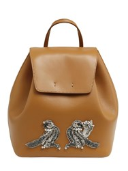 N 21 Leather Backpack W Bird Applique