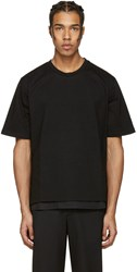 Wooyoungmi Black Side Snap T Shirt