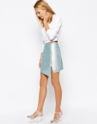 Girls On Film Metallic Wrap Skirt Silver