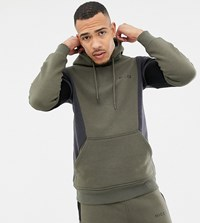 Nicce London Hoodie In Khaki With Contrasting Panels Exclusive To Asos Green