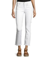 Hudson Bailey Mid Rise Baby Boot Cut Crop Jeans White