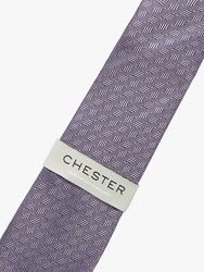 Chester Barrie By Spot Stripe Silk Tie Pink