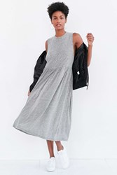 Truly Madly Deeply Babydoll Muscle Tee Midi Dress Grey