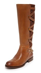 Frye Jordan Strappy Tall Boots Wood
