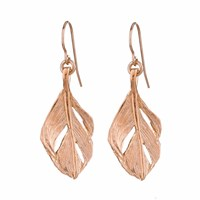 Chupi I Can Fly Midi Swan Feather Earrings Rose Gold