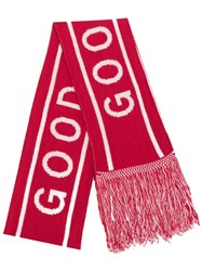 Paul Smith Ps Football Style Scarf Red