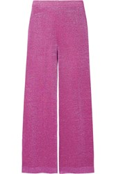 Missoni Cropped Lurex Wide Leg Pants Pink