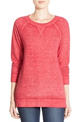 Women's Caslon Burnout Sweatshirt Pink Polish
