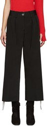 Off White Black Cropped Caution Trousers