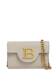 Balmain B Envelope Leather Shoulder Bag Ecru