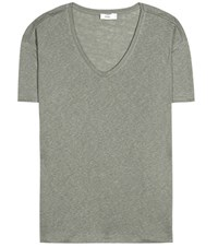 Closed Linen T Shirt Green