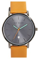 Ted Baker Men's London Leather Strap Watch 40Mm