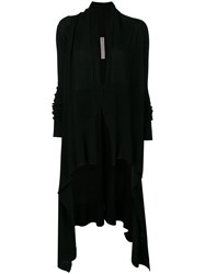 Rick Owens Long Wrap Cardigan Women Virgin Wool M Black
