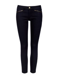 Wallis Denim Skinny Ankle Zip Trousers Denim Indigo