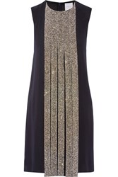 Dion Lee Swarovski Crystal Embellished Silk Crepe Dress Midnight Blue