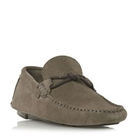 Bertie Bandit X Weave Knot Lace Driver Loafers Grey