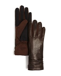 Urban Research Ur Ruched Cuff Tech Gloves Brown
