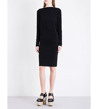 By Malene Birger Finae Stretch Crepe Midi Dress Black