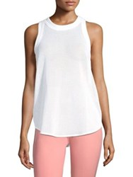Adidas By Stella Mccartney Yoga Fitted Cotton Touch Tank White