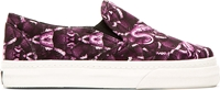 Marcelo Burlon County Of Milan White And Purple Snake Print Platform Sneakers