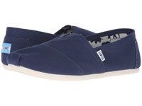 Toms Classic Canvas Navy Canvas Men's Flat Shoes Blue
