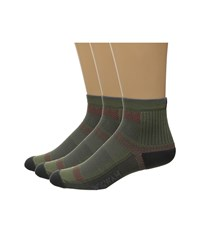 Wigwam Ultra Cool Lite Quarter 3 Pack Moss Quarter Length Socks Shoes Green