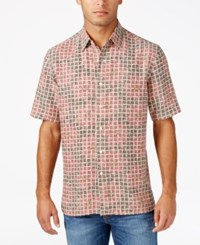 Tasso Elba Men's Floral Shirt Only At Macy's Red Shadow Combo
