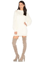 D.Ra Lanie Sweater Dress White