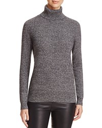 Bloomingdale's C By Cashmere Turtleneck Sweater Black White Twist