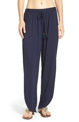 Robin Piccone Women's Side Split Cover Up Pants Indigo