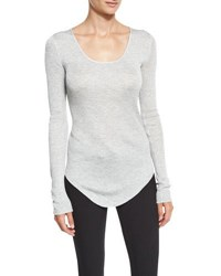 Rag And Bone Francois Long Sleeve Knit Top Heather Gray