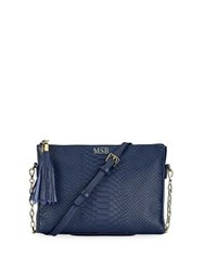 Gigi New York Hailey Embossed Crossbody Bag Navy