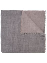 Denis Colomb Frayed Scarf Grey
