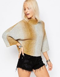 Only Gradient High Neck Pull Over Jumper Pumice Stone Cream