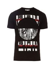 Mcq By Alexander Mcqueen Distressed Graphic Print Crew Neck T Shirt Black Multi
