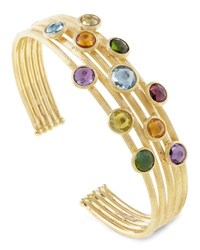 Marco Bicego Jaipur Mixed Stone Five Row Bangle Bracelet