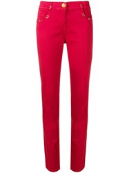 Class Roberto Cavalli Mid Rise Skinny Jeans Red
