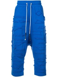 Mostly Heard Rarely Seen Kinetic Cropped Trousers Blue