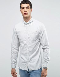 Jack And Jones Vintage Shirt With Button Down Collar In Regular Fit Cr Cream