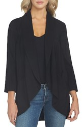 1.State Women's Drape Front Jacket Rich Black