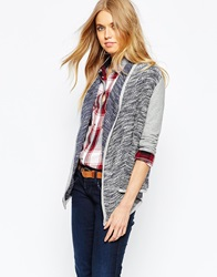 Pepe Jeans Cardigan With Jersey Sleeves Bluegrey