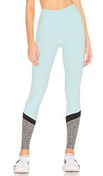 Beyond Yoga Spacedye Color In High Waisted Legging In Mint. Island Topaz And White