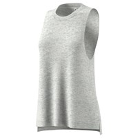 Adidas Boxy Melange Training Tank Top White