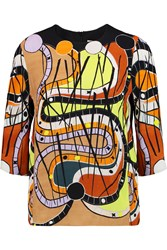 Peter Pilotto Printed Crepe Top Orange