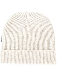 Tom Ford Cashmere Ribbed Beanie Neutrals