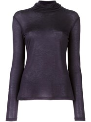 Les Copains Fine Knit Roll Neck Jumper Blue