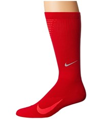 Nike Elite Run Lightweight 2.0 Crew Gym Red Bright Crimson Crew Cut Socks Shoes